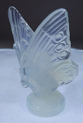 Vintage Sabino Opalescent Frosted Art Glass Open Wing Butterfly French