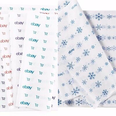 """Blue, Red, and Purple & Holiday eBay-Branded Tissue Paper Multi-Pack 20"""" x 30"""""""