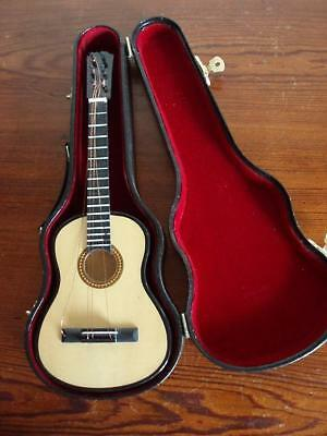 Miniature Acoustic Guitar with Case.