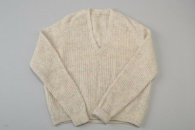 Gentleman's 1950s' Hand Knitted Flecked Wool V Neck Pull Over / Jumper. BNS