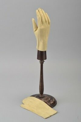 Gentleman's Elegant Mid C20th s 8 Pale Yellow Chamoix Leather Gloves. CIK