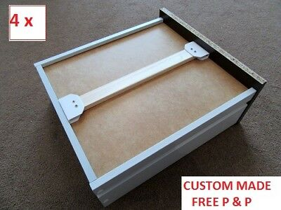 4 x STRONG DRAWER SUPPORTS - CUSTOM MADE TO SIZE -REPAIR KIT-QUICK DESPATCH