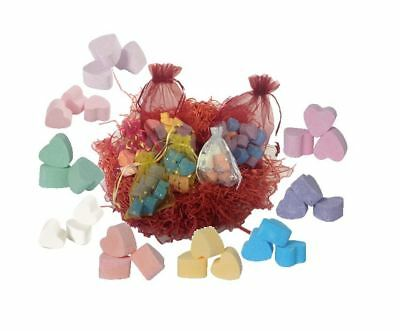 Bath Bombs Mini Bath Hearts Fizzers Assorted Wedding Favour Gifts