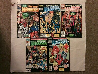 The New Warriors comic book lot 3!issues #21-25(Marvel,1990s)