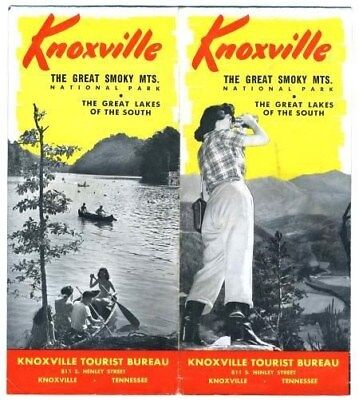 Knoxville Tennessee & Smoky Mountains Brochure 1940's National Park