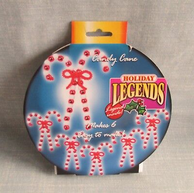 Holiday Legends Beaded Christmas Candy Cane Ornament Kit 10769 Makes 6 New