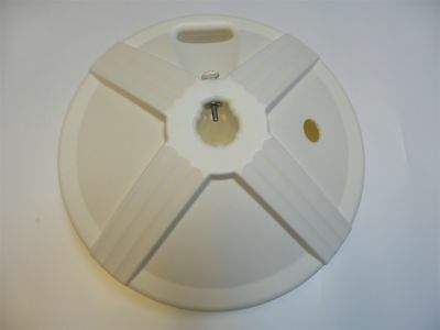 """patio umbrella base white polymer weather resistant made in usa 1"""" - 1.75"""" pole"""