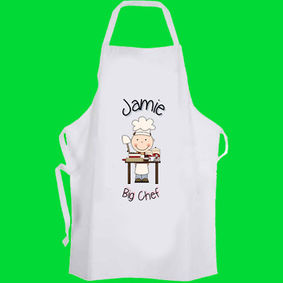 Personalised Blue Chef Cooking Apron