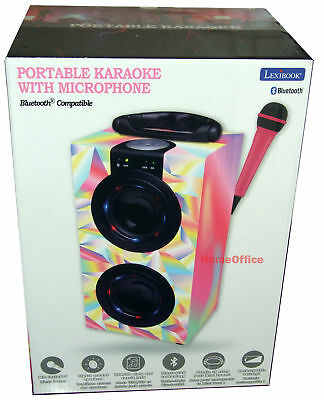 Kids Lexibook Karaoke Machine with Microphone And Light Effects Multi Pink