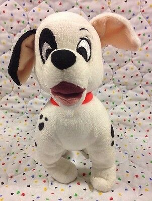 "Disney Store Plush 101 Dalmatian Dog Puppy  7"" Black White"