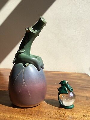 vintage dragon pottery, julian francis? And one other