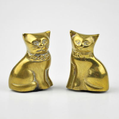 2 Messingkatzen - Katzen aus Messing - Katze - Figur - Vintage Brass Cat Figures