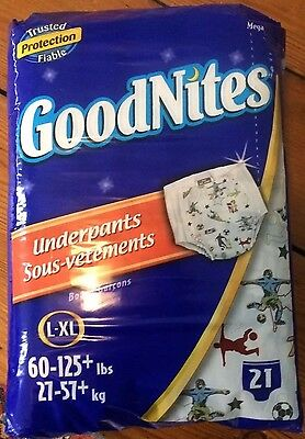 Old Vintage Soccer L-XL GoodNites Diapers, 21 pack