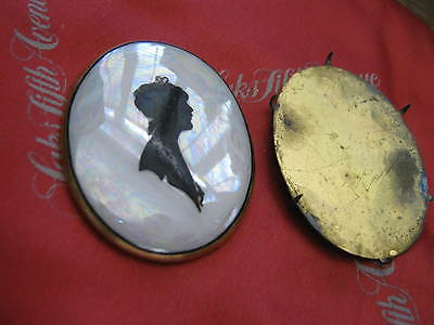 Late Victorian Edwardian LUSTERWARE SILHOUETTE Pretty Lady SIGNED K.L on reverse