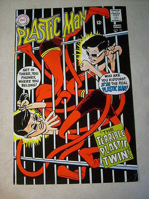PLASTIC MAN #10 COVER ART, original approval cover proof 1960's PLASTIC TWIN