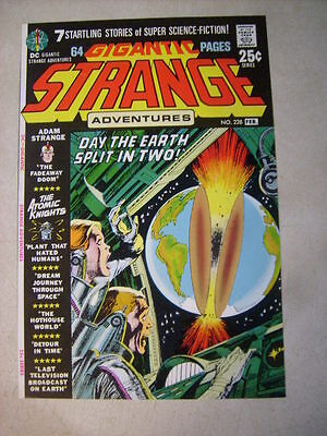 STRANGE ADVENTURES #228 COVER ART, original approval cover proof 1970'S ATOMIC