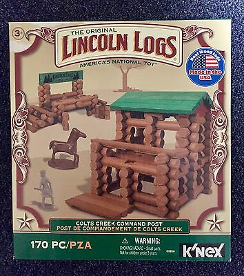 New Knex Lincoln Logs Colts Creek Command Post 170 Pieces Building Toy Set