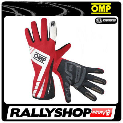 FIA OMP FIRST EVO RACE Karthandschuh Handschuhe Professionell  Motorsport Rot
