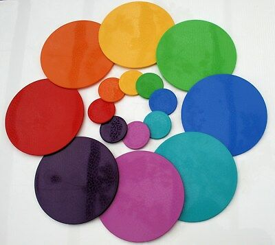 Dishwasher safe placemats,tablemats,13 colours,Round solid, Intech Gecko