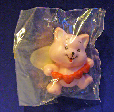 BUY1&GET1@50%~Russ PIN Valentines MIP CAT PINK Kitten HEART GARLAND Vtg Brooch