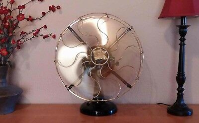 Antique Brass Blade Electric Fan – 1910 Robbins and Myers. Beautifully restored