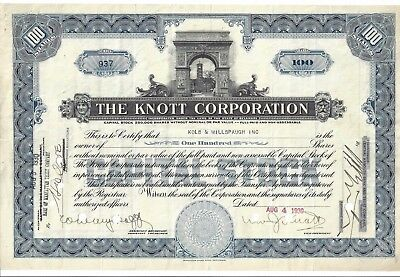 The Knott Corporation.......1930 Common Stock Certificate