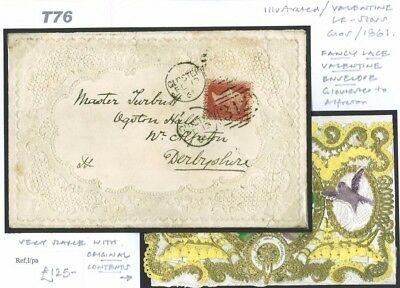 T76	1861 Gloucester Valentine With Contents/Alfreton {samwells-covers}