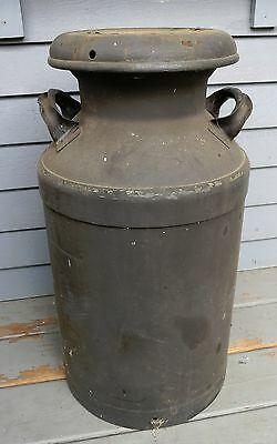 """Large Antique Milk Can With Cover 24 1/2"""" Tall Pick Up 02346 Ma"""