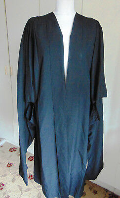 Modern Black polyester University Graduation Gown Ede Ravenscroft Length 47""