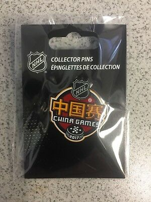 2017 NHL China Game Event Logo Hockey Pin Los Angeles Kings vs Vancouver Canucks