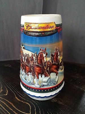 Budweiser Holiday Beer Mug - 2002 (Mint Condition Collectible)