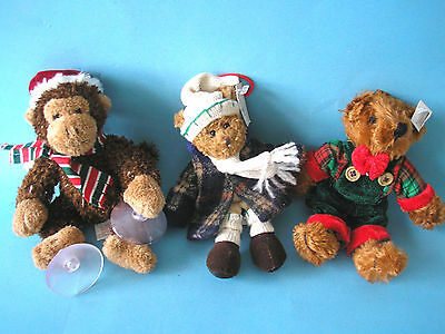 russ berrie teddy lot of three toys 3 Stofftiere