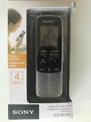 Sony Digital Voice Recorder Icd-Bx140 - Silver