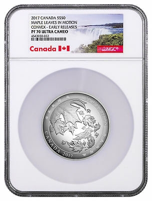 2017 Canada Maple Leaves Motion Domed 5 oz Silver $50 NGC PF70 UC ER SKU47103