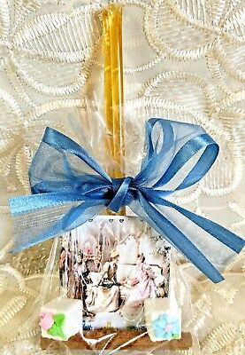 6 Victorian Ladies Tea Party Time Favor Bags Decorated Sugar Cubes FREE SHIP