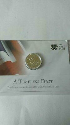 UK 20 Pound Coin (The George and the Dragon 2013 Silver)