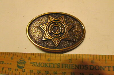 Vintage Brass Belt Buckle The Buckle Works-University Of California Police