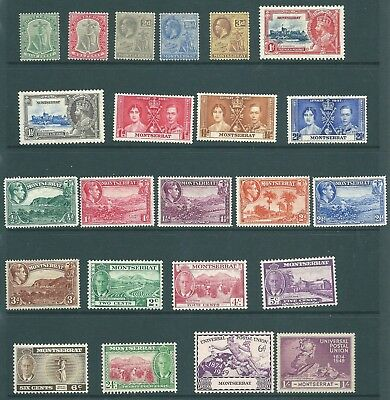 MONTSERRAT - MINT stamp collection from 1903 onwards