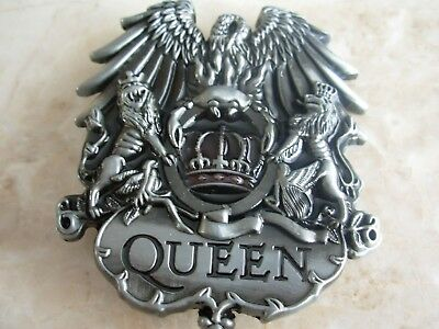 Queen Lion Crown Music Belt Buckle Rock Band Fashion Gift Leather Belts Buckles