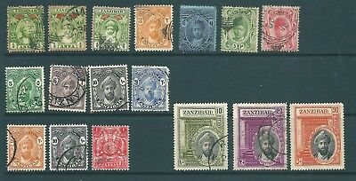 ZANZIBAR - Used stamp collection from 1896 onwards