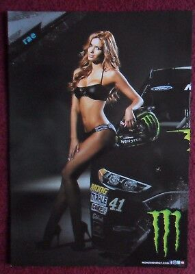 Sexy Girl Dorm Poster ~ Monster Energy Drink RAE Nascar CHEVY SS Race Car