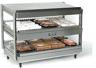 "NEMCO HORIZONTAL, DUAL SHELF, 18"", STAINLESS Model 6480-18"