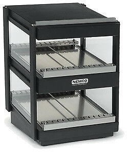 "NEMCO SLANTED, DUAL SHELF, 36"", BLACK Model 6480-36S-B"