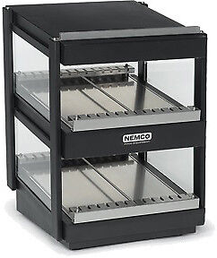 "NEMCO SLANTED, DUAL SHELF, 24"", BLACK Model 6480-24S-B"