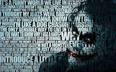 Heath Ledger Batman The Joker  Movie A4 260gsm Poster Print