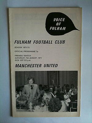 1971/72 Fulham v Manchester United Friendly