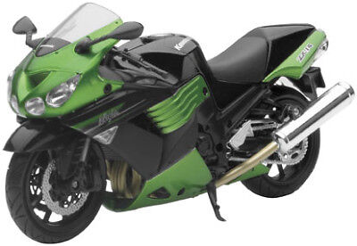 NewRay Die-Cast 1:12 Scale Motorcycle ZX-14R Green 2011