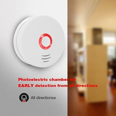 Photoelectric Smoke and Fire Alarm Detector Battery Powered UL Listed w/ Battery
