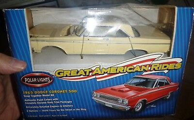 Polar Lights 1965 Dodge Coronet 500 Convertible Turquoise Kit New 53001 Snap Toys, Hobbies
