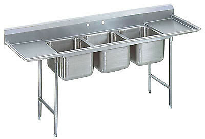 "Advance Tabco 91"" Regaline Three Compartment Sink Model T9-3-54-18RL"